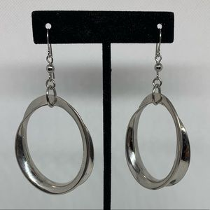 Dangling hoop earrings